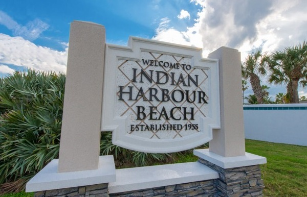 Indian Harbour Beach Sign