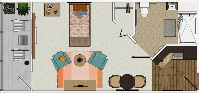 Grand Suite plan view